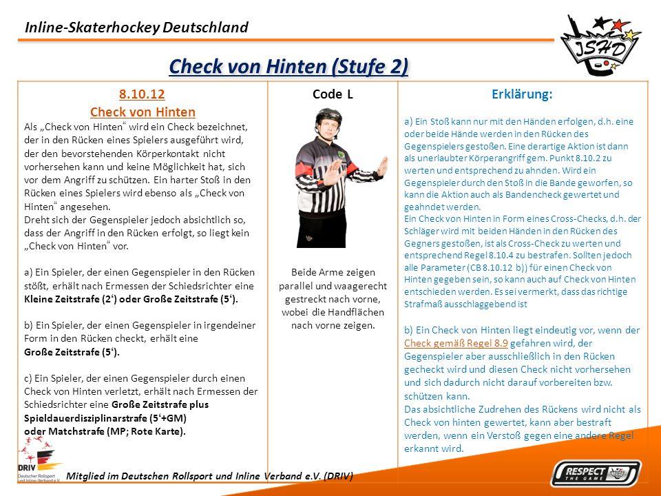 Check von Hinten (Stufe 2)