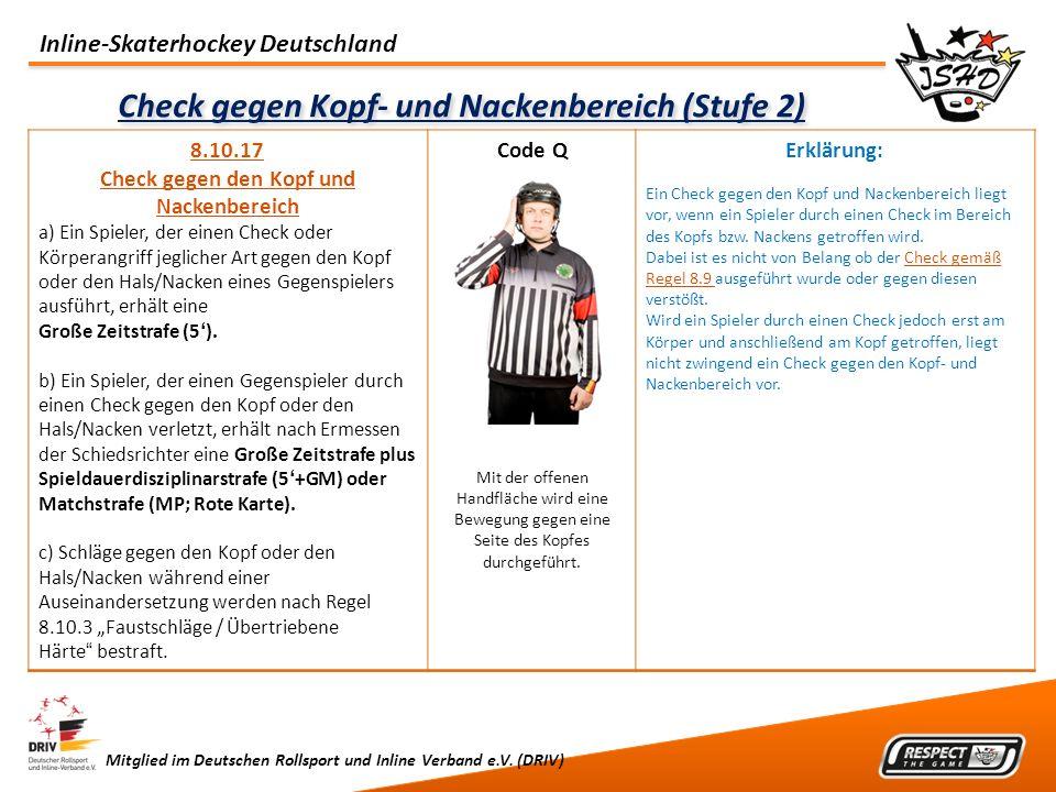 Check gegen Kopf- und Nackenbereich (Stufe 2)