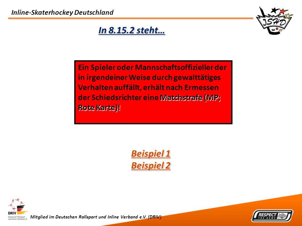 In 8.15.2 steht… Beispiel 1 Beispiel 2