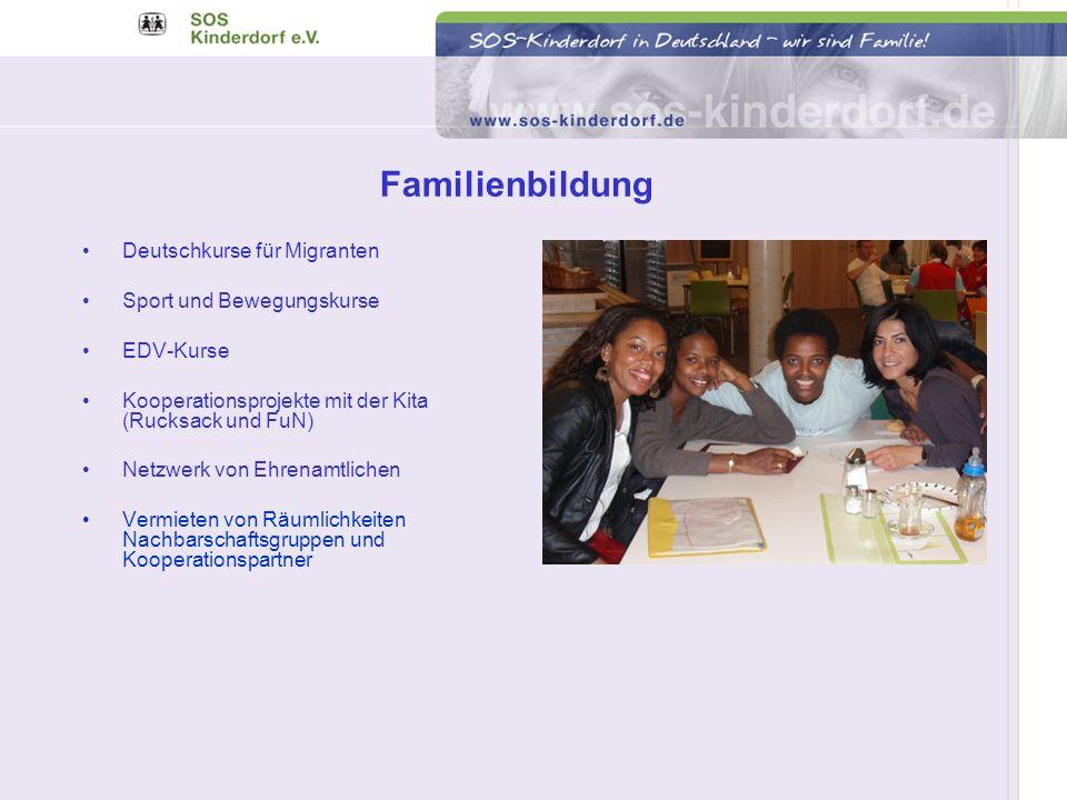 Familienbildung Deutschkurse für Migranten Sport und Bewegungskurse
