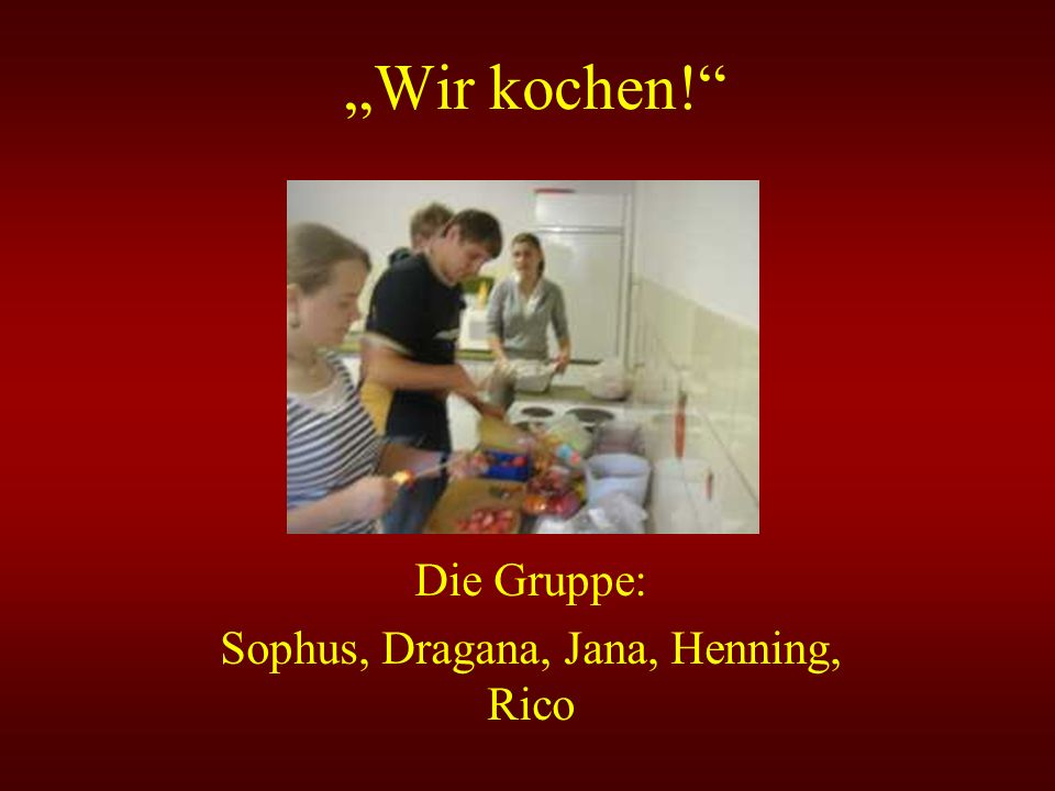 Die Gruppe: Sophus, Dragana, Jana, Henning, Rico