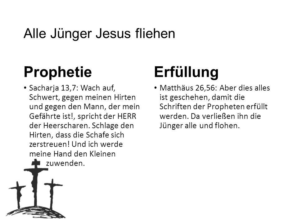 Alle Jünger Jesus fliehen