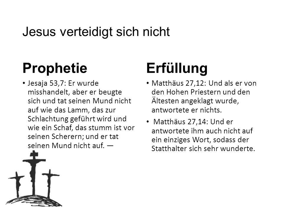 Jesus verteidigt sich nicht