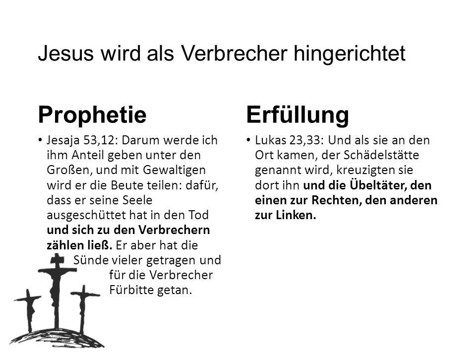 Jesus wird als Verbrecher hingerichtet