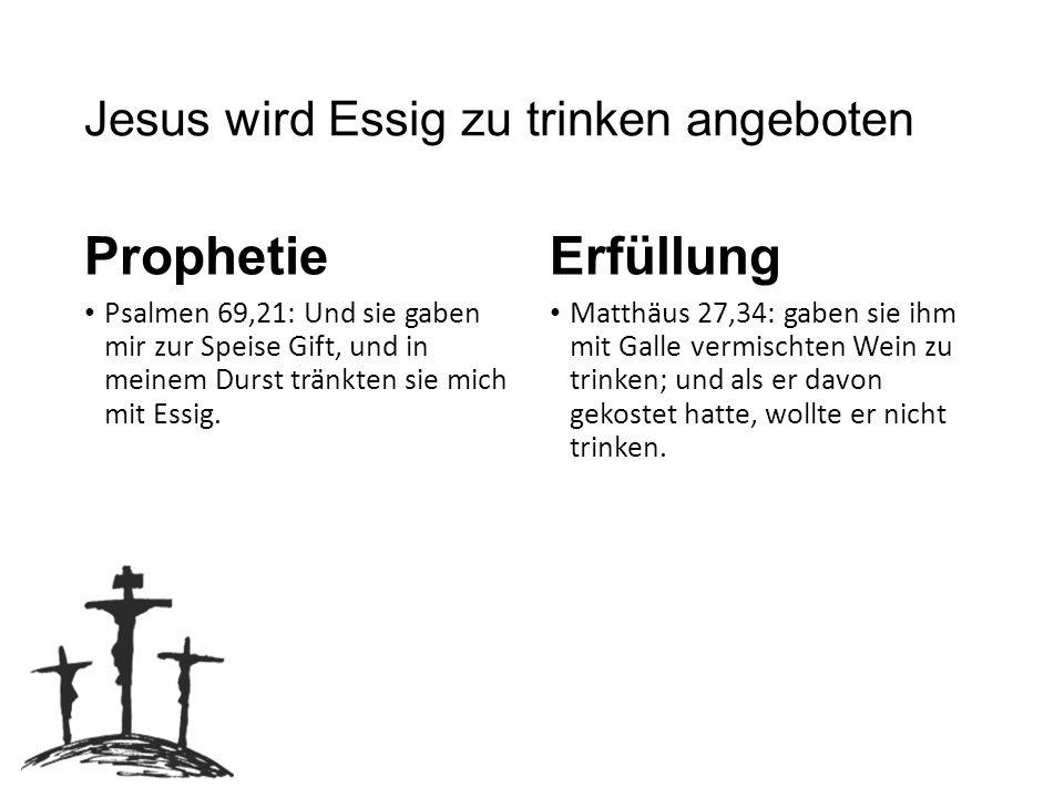 Jesus wird Essig zu trinken angeboten