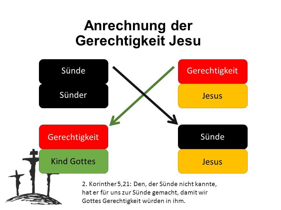 Anrechnung der Gerechtigkeit Jesu