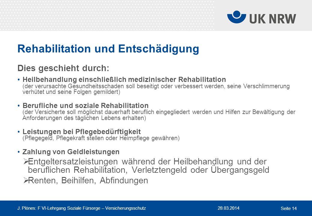 Rehabilitation und Entschädigung