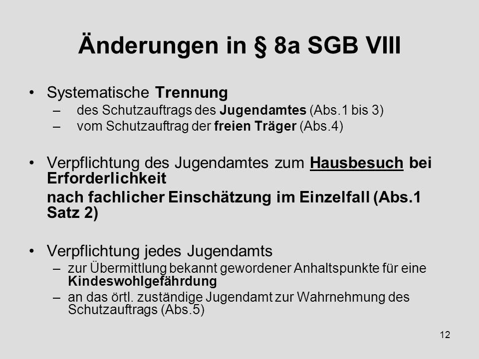 Änderungen in § 8a SGB VIII