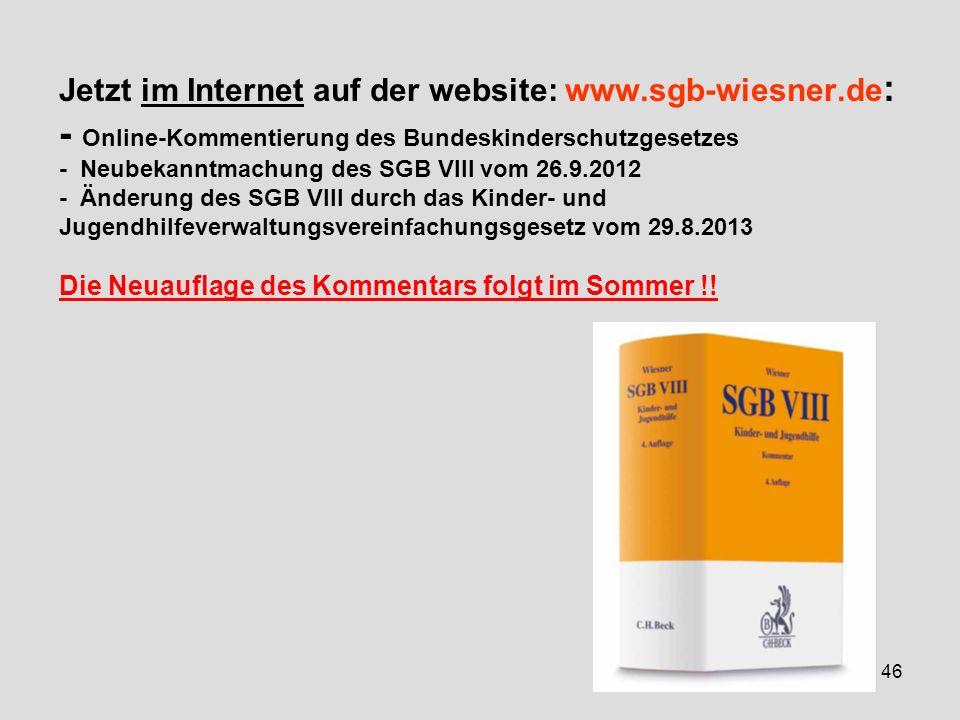 Jetzt im Internet auf der website: www. sgb-wiesner