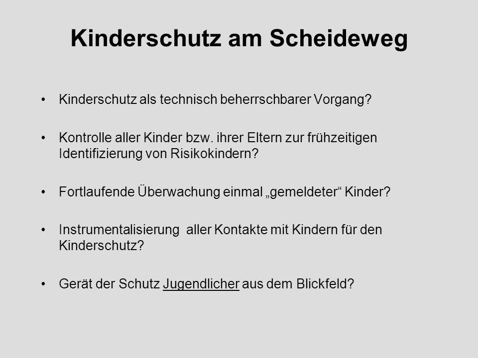 Kinderschutz am Scheideweg