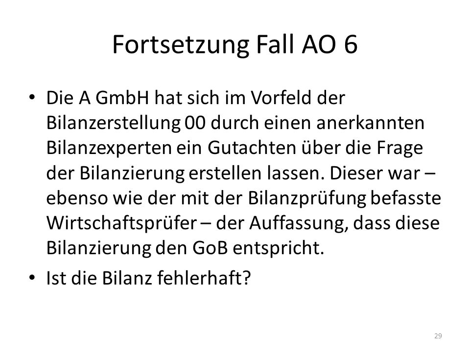 Fortsetzung Fall AO 6