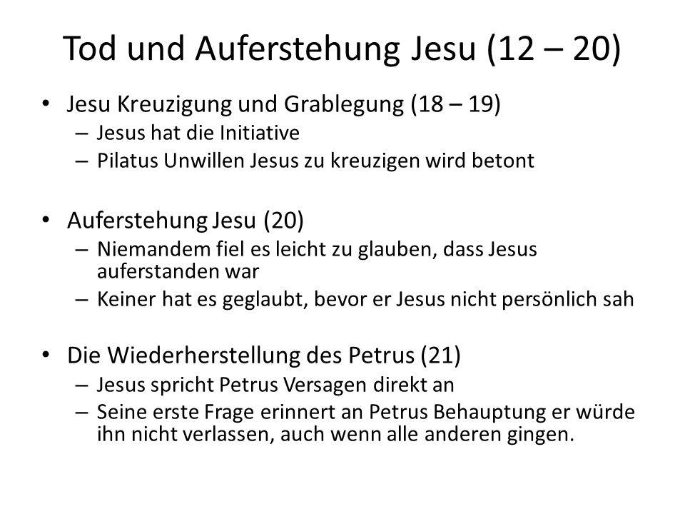 Tod und Auferstehung Jesu (12 – 20)