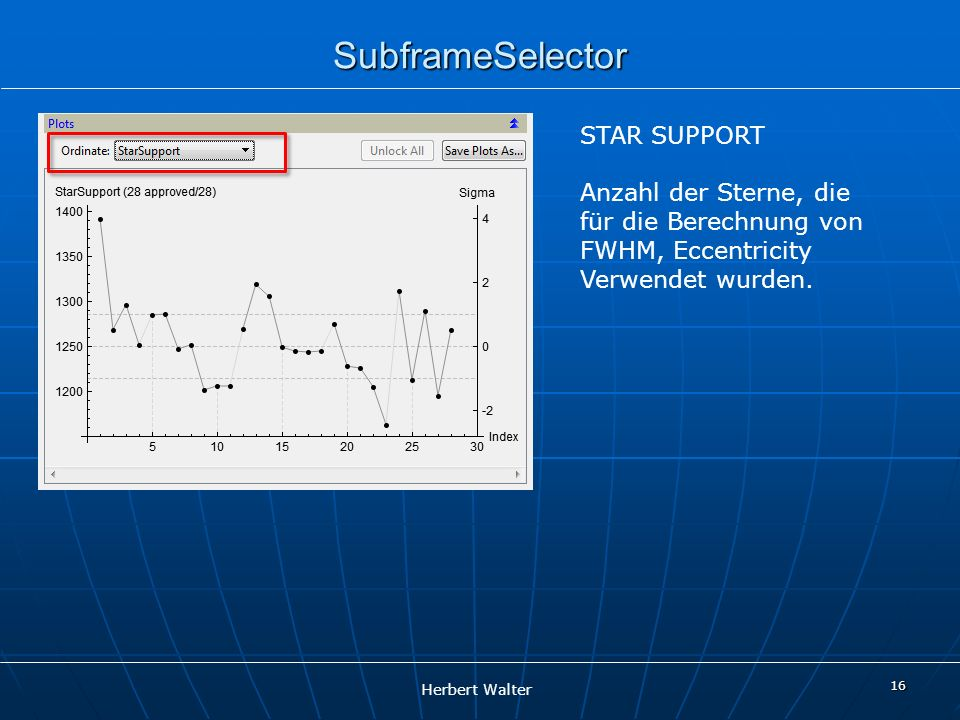 SubframeSelector STAR SUPPORT