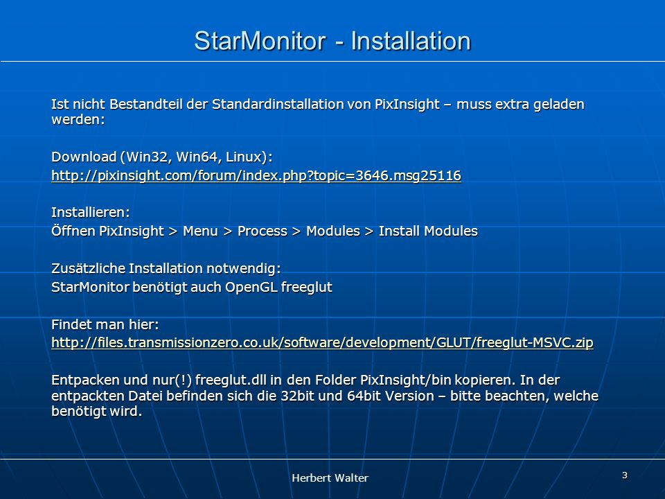 StarMonitor - Installation