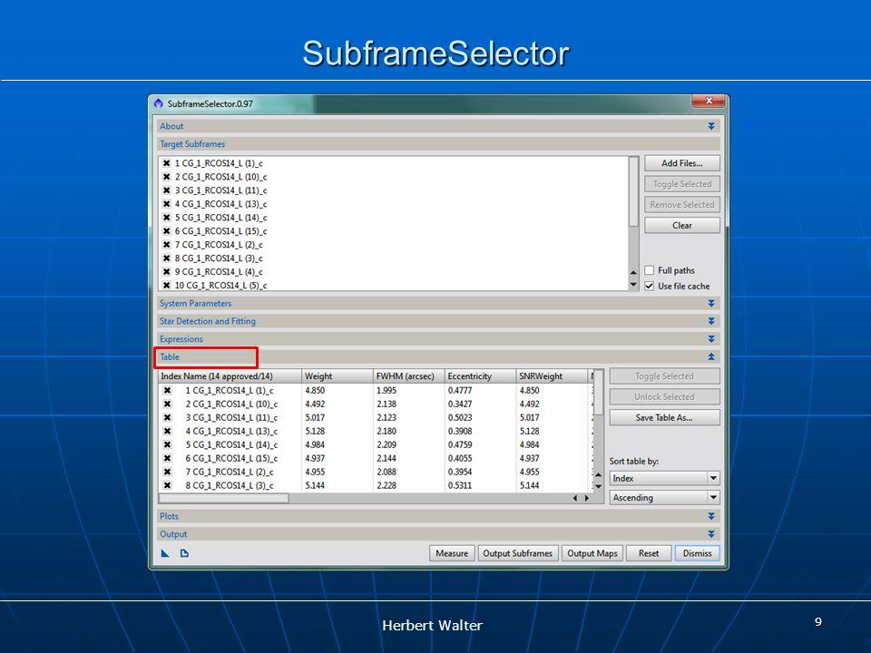 SubframeSelector