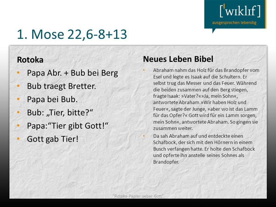 Rotoka-Papier ueber Gott
