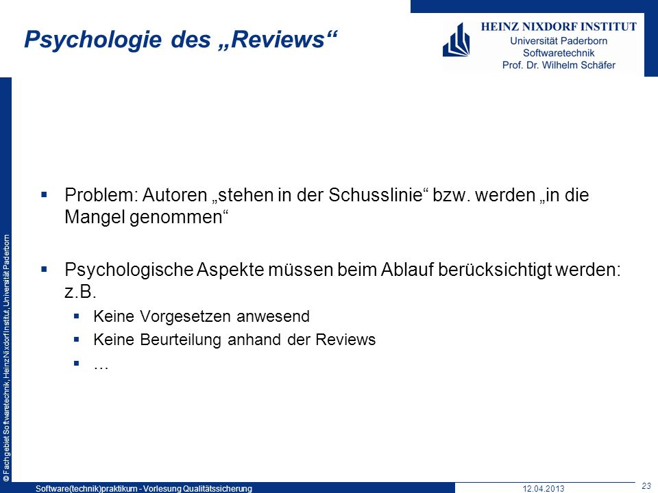 "Psychologie des ""Reviews"