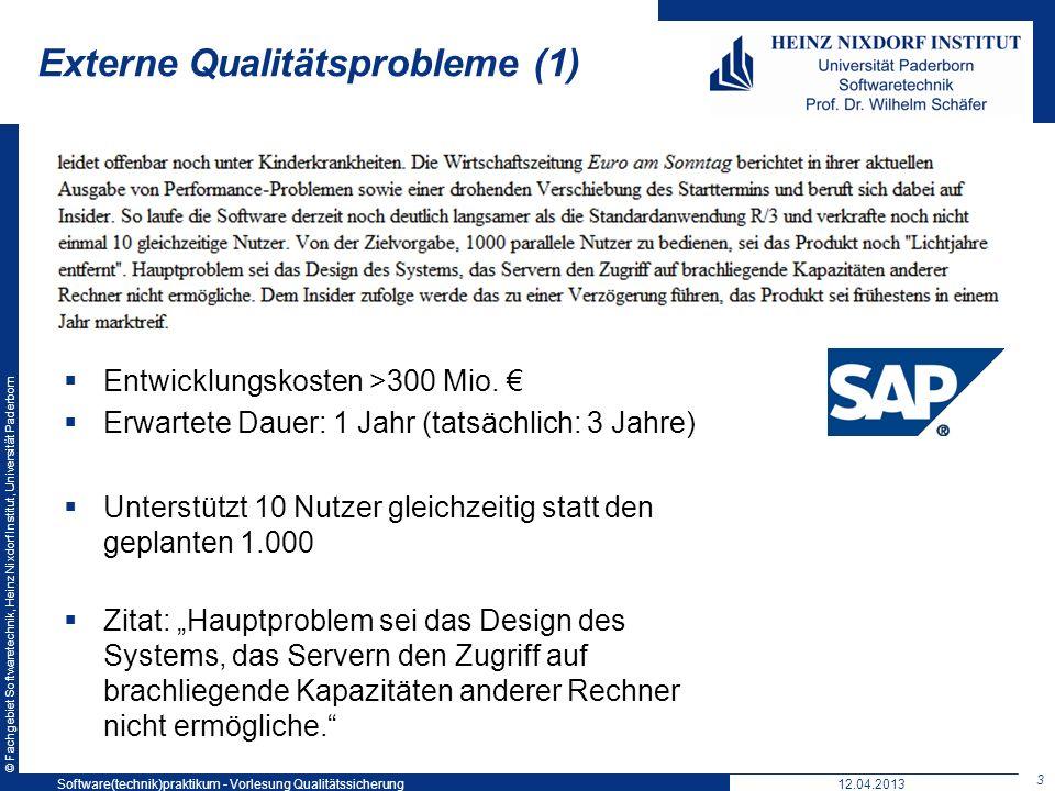 Externe Qualitätsprobleme (1)