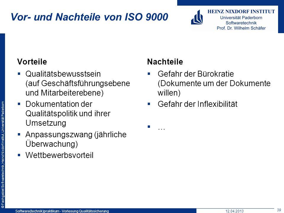 Vor- und Nachteile von ISO 9000