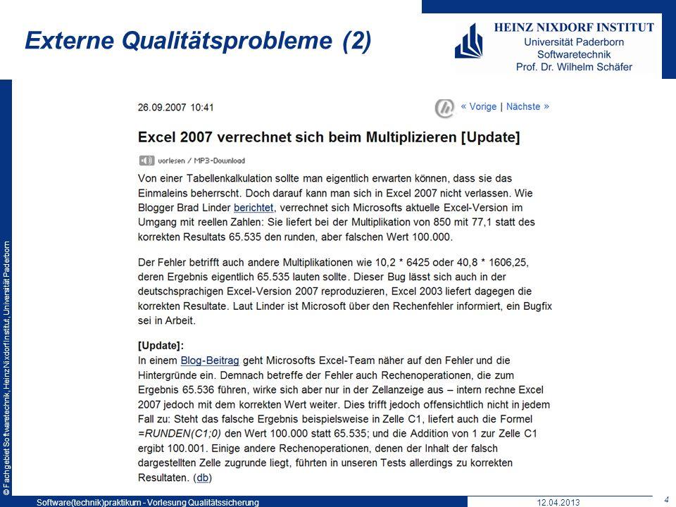 Externe Qualitätsprobleme (2)