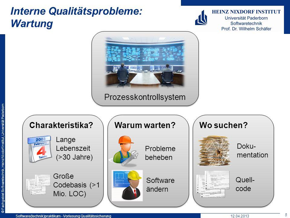 Interne Qualitätsprobleme: Wartung