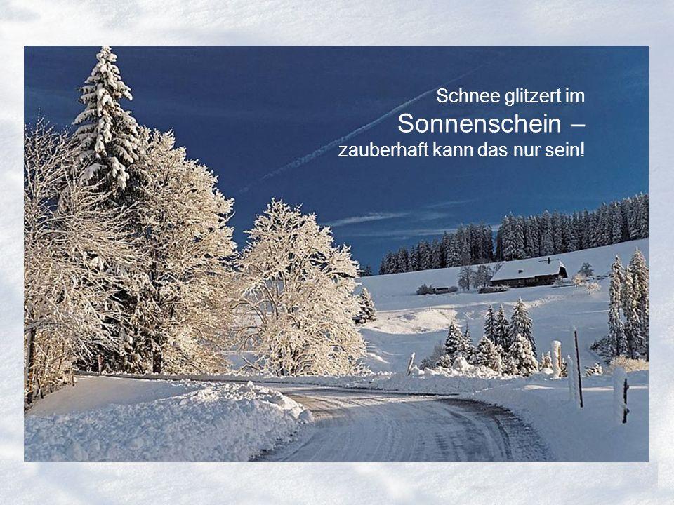 Schnee glitzert im Sonnenschein – zauberhaft kann das nur sein!