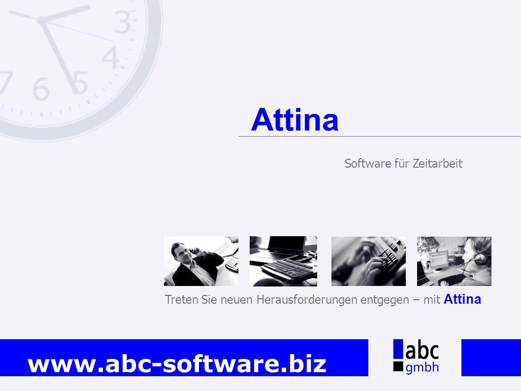 Attina Software für Zeitarbeit
