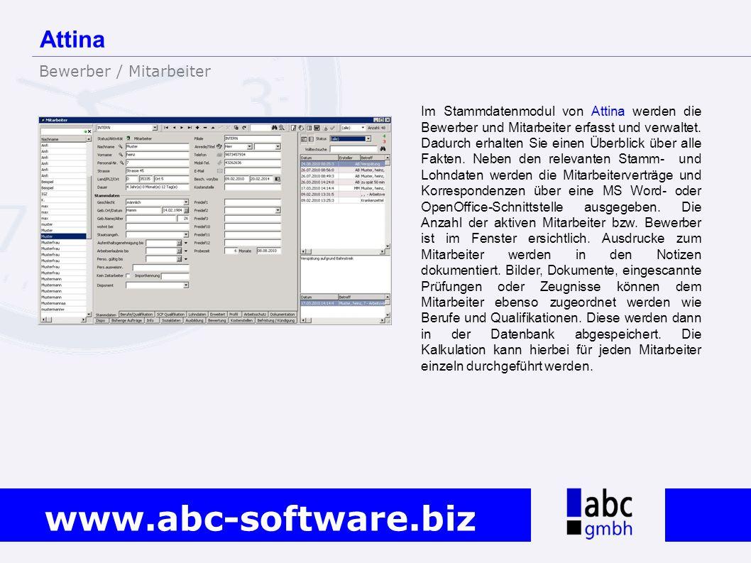 Attina Bewerber / Mitarbeiter
