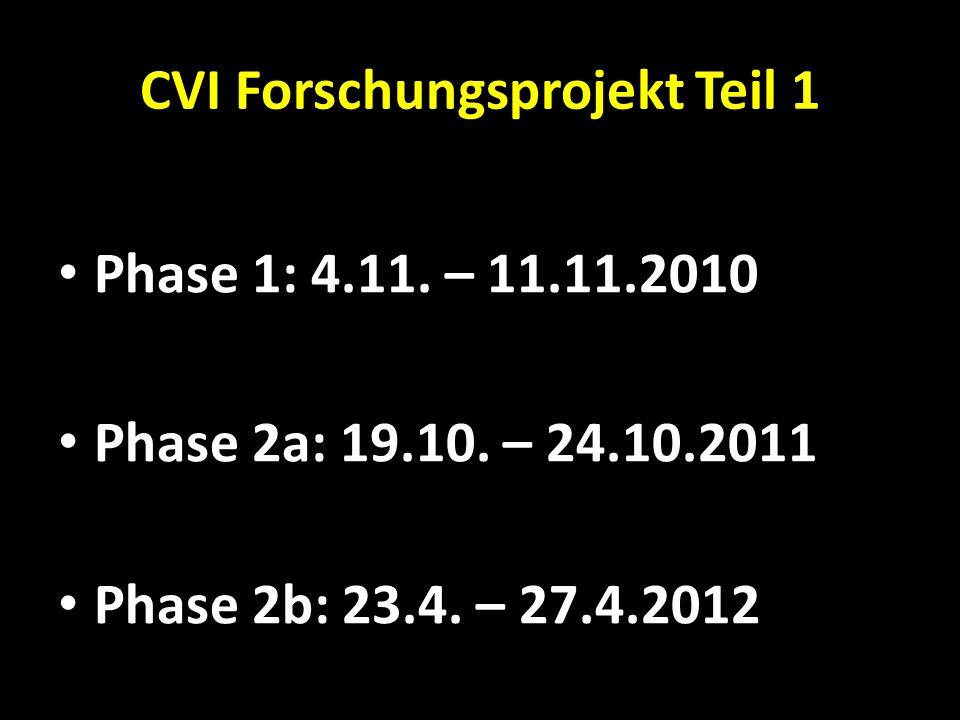 CVI Forschungsprojekt Teil 1