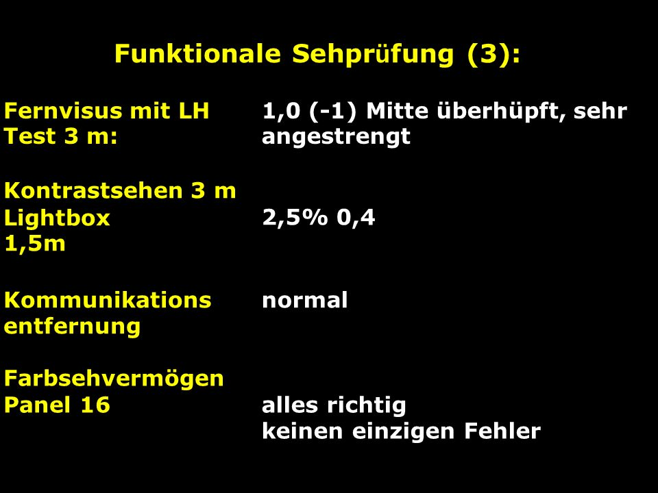 Funktionale Sehprüfung (3):