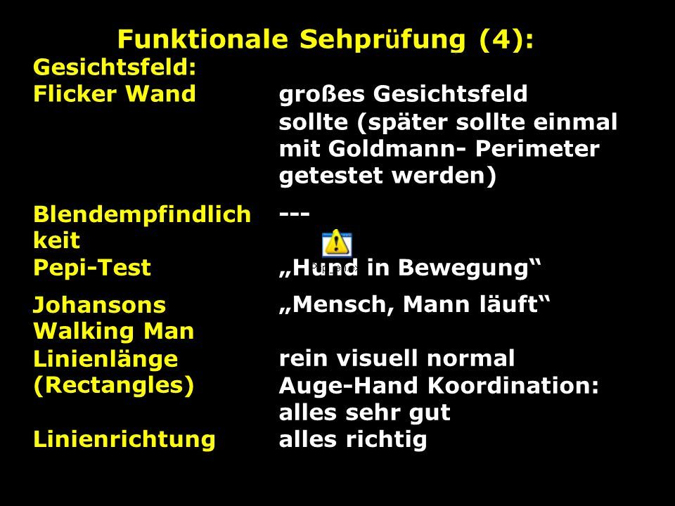 Funktionale Sehprüfung (4):