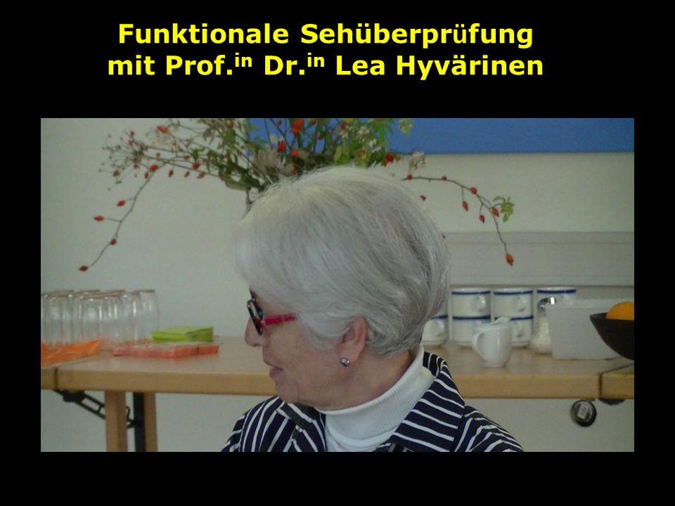 Funktionale Sehüberprüfung mit Prof.in Dr.in Lea Hyvärinen