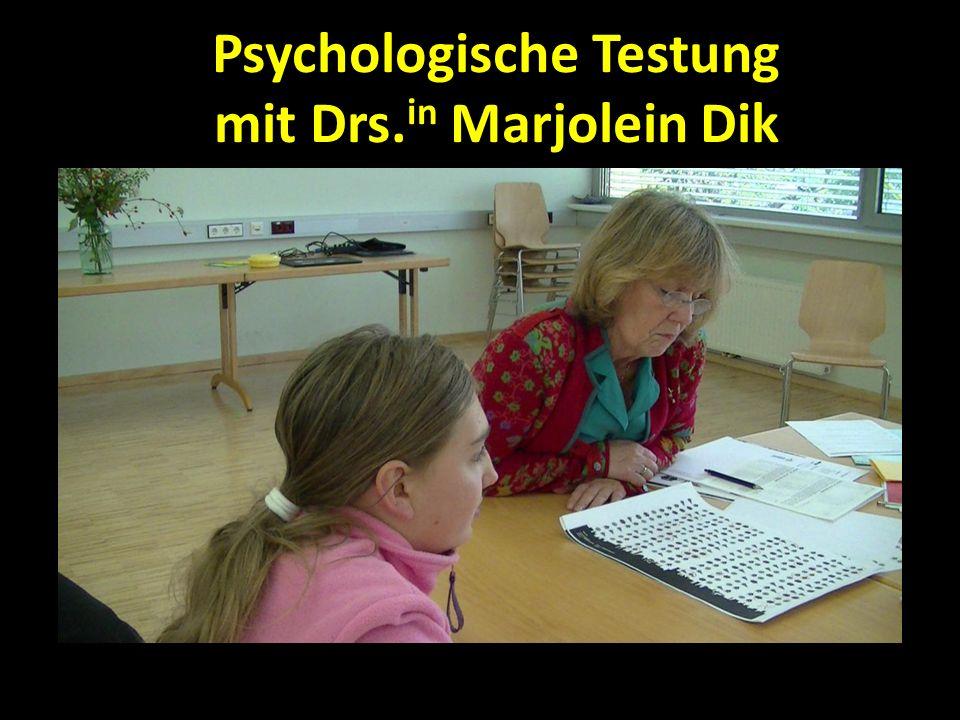 Psychologische Testung mit Drs.in Marjolein Dik