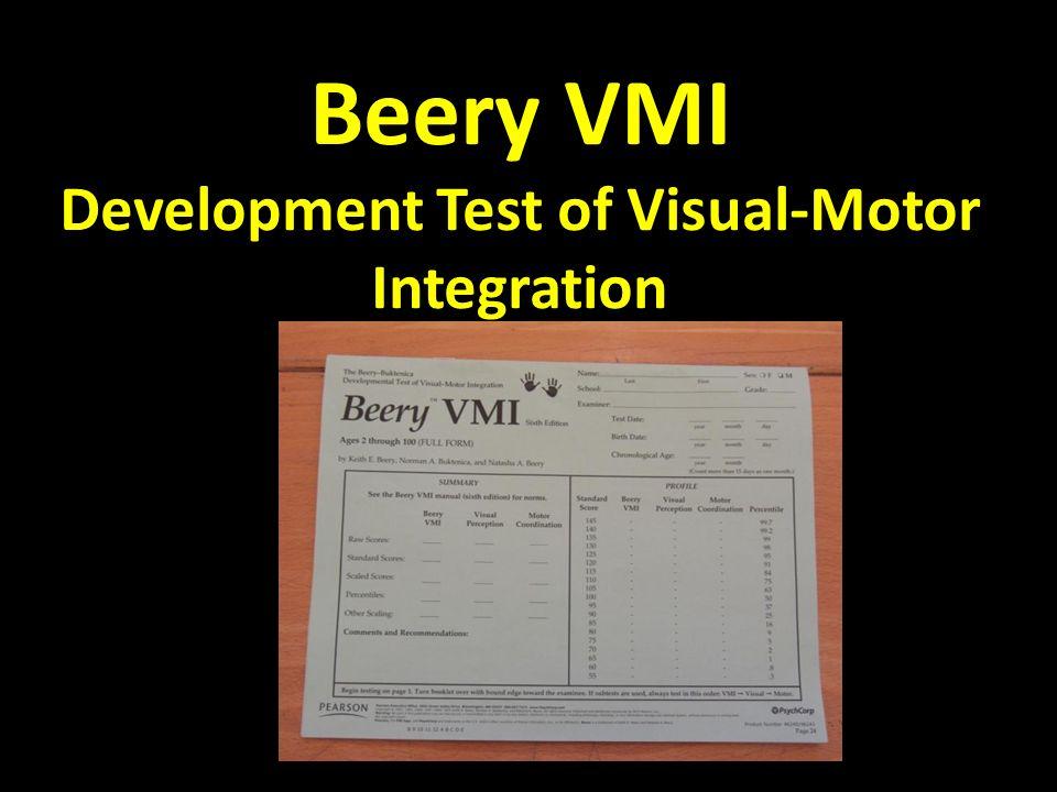 Beery VMI Development Test of Visual-Motor Integration