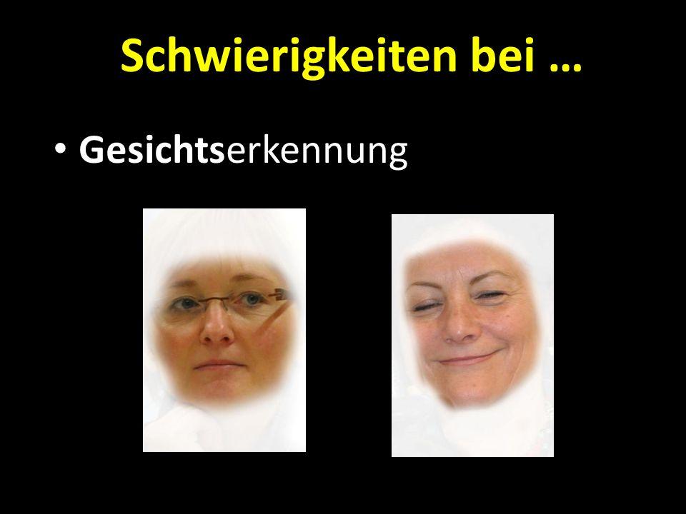Schwierigkeiten bei … Gesichtserkennung
