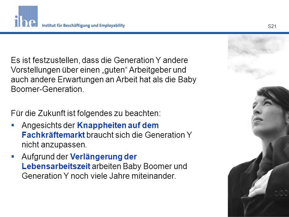 """Es ist festzustellen, dass die Generation Y andere Vorstellungen über einen """"guten Arbeitgeber und auch andere Erwartungen an Arbeit hat als die Baby Boomer-Generation."""