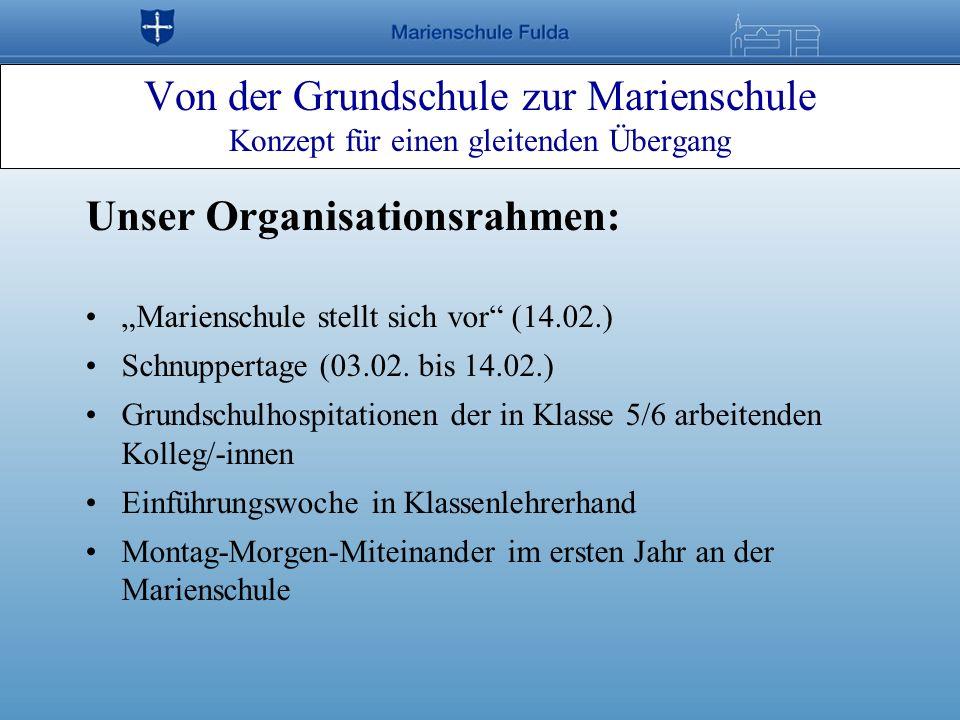Unser Organisationsrahmen: