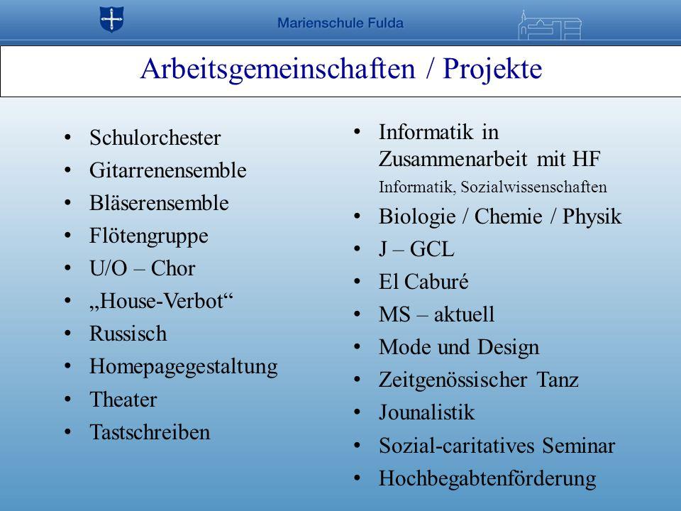 Arbeitsgemeinschaften / Projekte