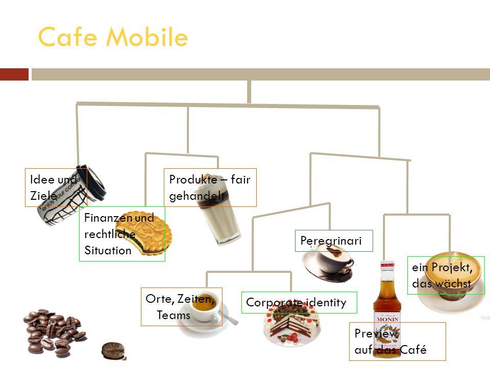Cafe Mobile Idee und Ziele Produkte – fair gehandelt