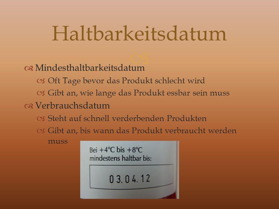 Haltbarkeitsdatum Mindesthaltbarkeitsdatum Verbrauchsdatum