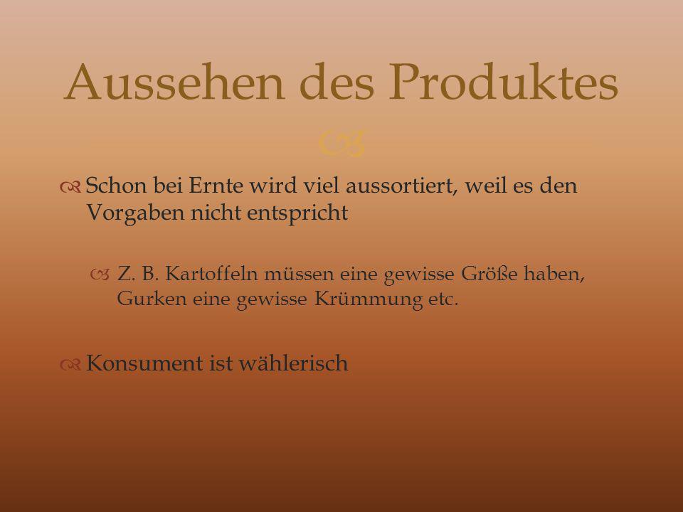 Aussehen des Produktes
