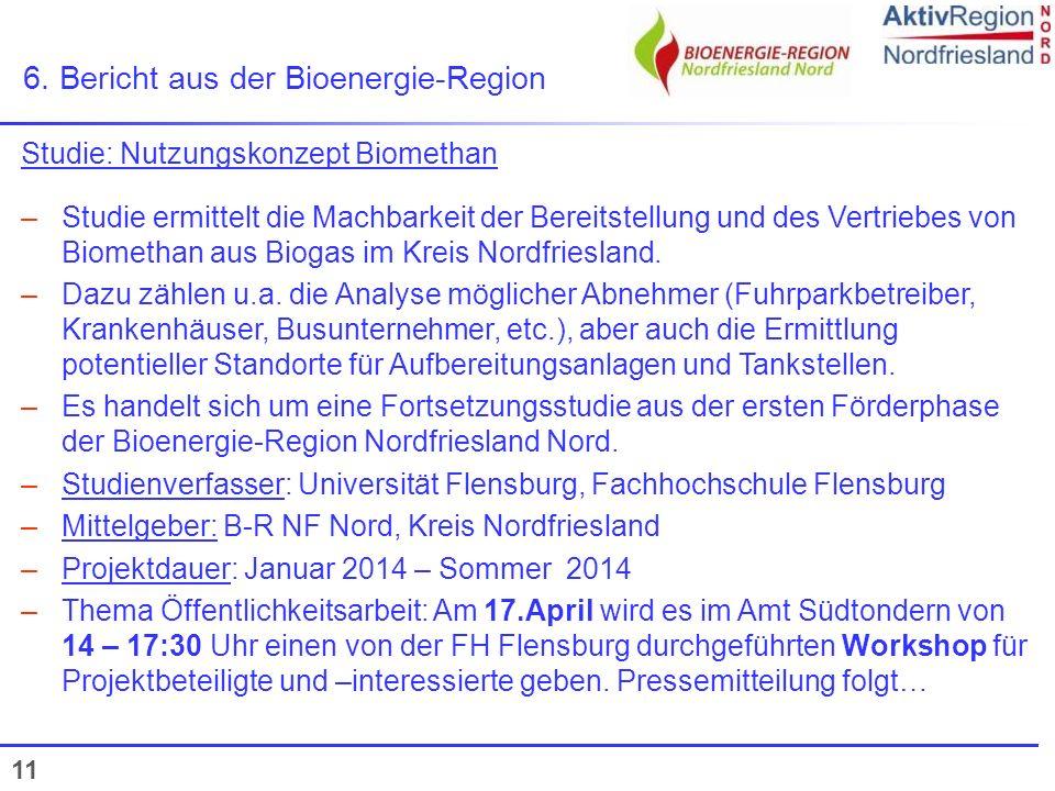 6. Bericht aus der Bioenergie-Region