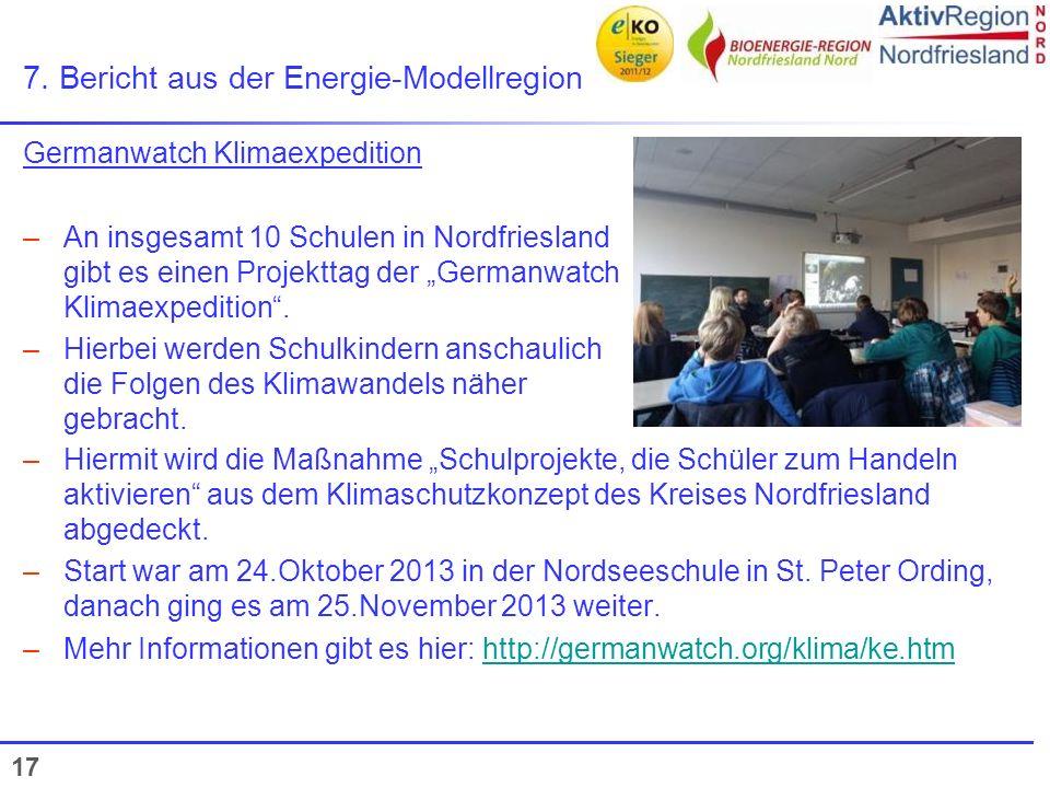 7. Bericht aus der Energie-Modellregion