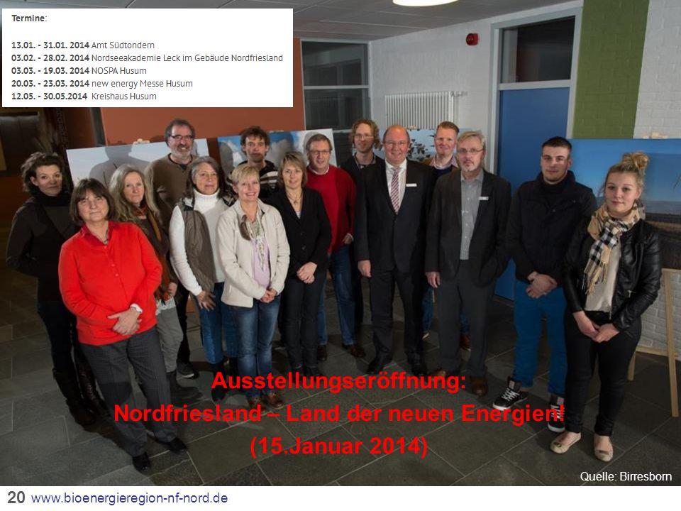 Ausstellungseröffnung: Nordfriesland – Land der neuen Energien!