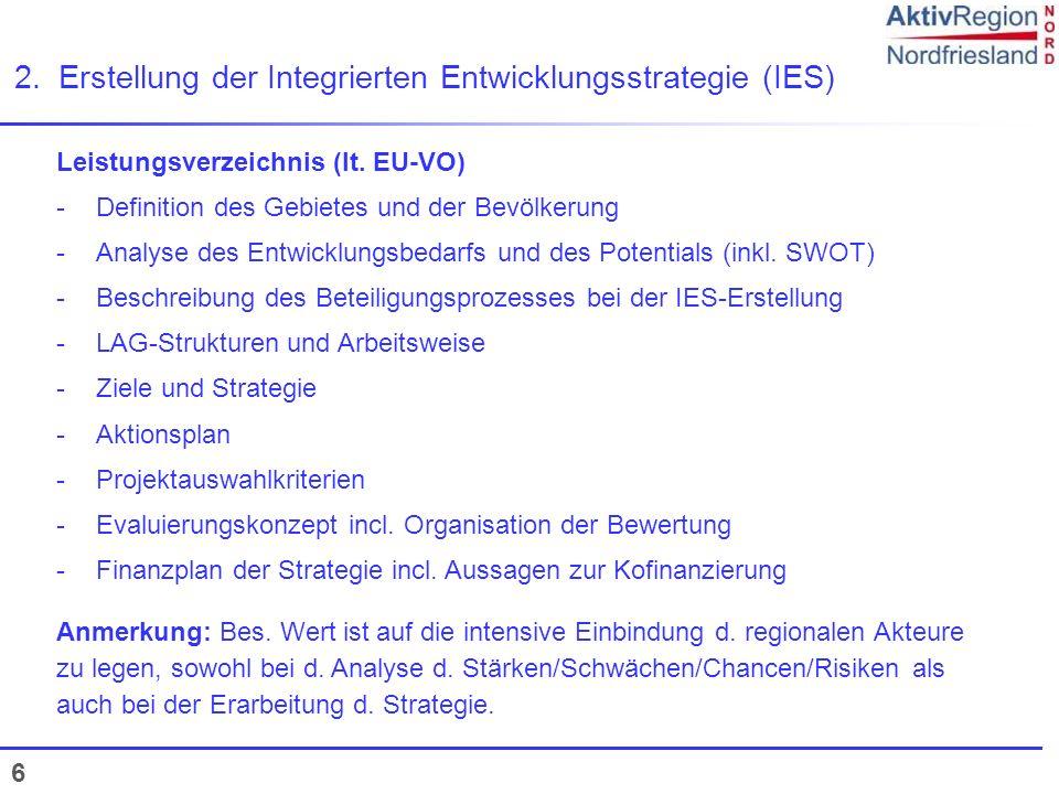 2. Erstellung der Integrierten Entwicklungsstrategie (IES)