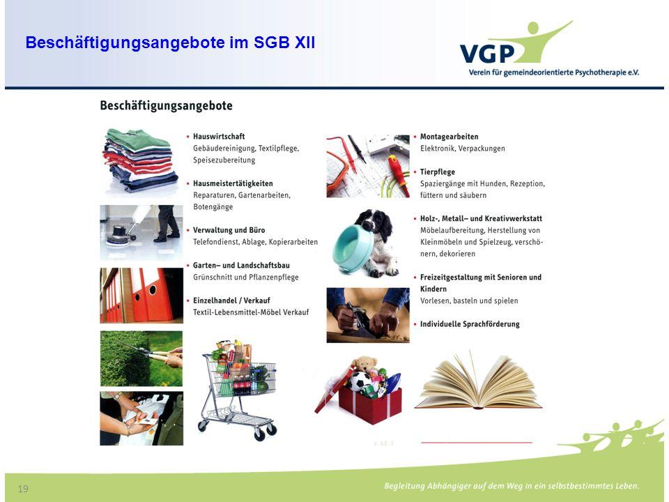Beschäftigungsangebote im SGB XII