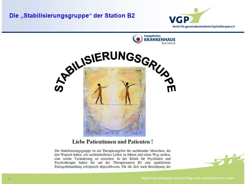 """Die """"Stabilisierungsgruppe der Station B2"""