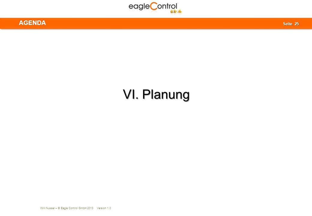 AGENDA VI. Planung