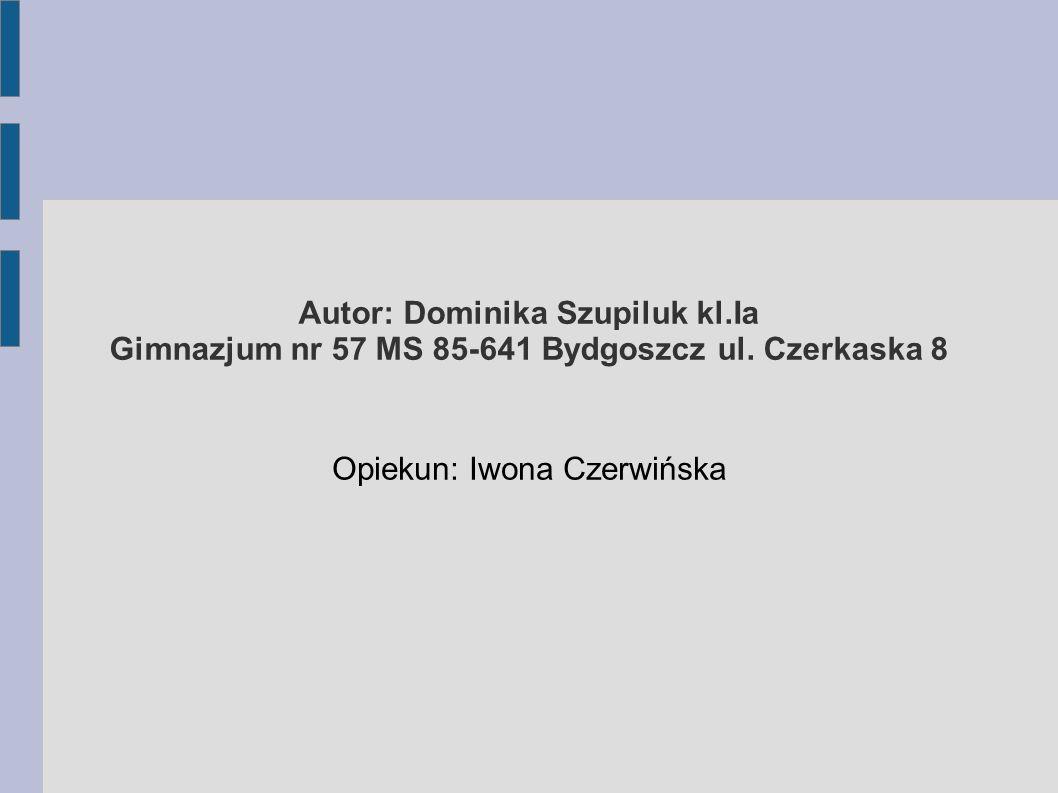Opiekun: Iwona Czerwińska