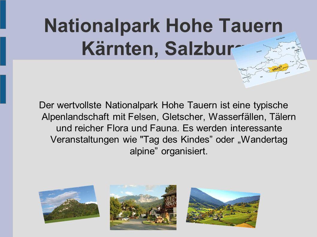 Nationalpark Hohe Tauern Kärnten, Salzburg